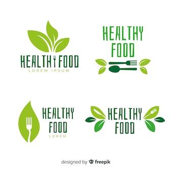 Etiket met plat biologisch voedseletiket