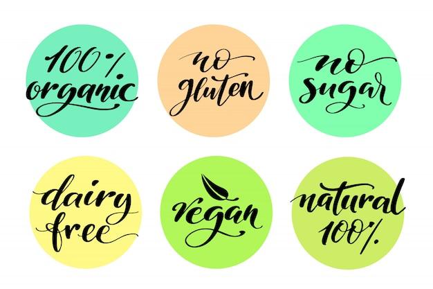 Etiket voor gezonde voeding.