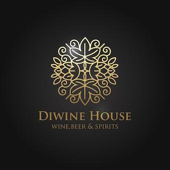 Etiketten voor bedrijf, wijnwinkel en wijnbar
