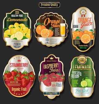 Etiketten voor biologisch fruit
