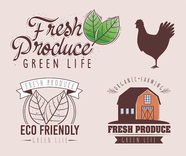 Etiketten voor verse producten
