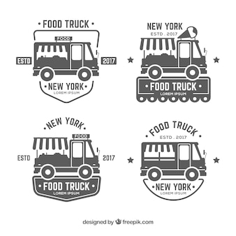 Etikettenverzameling voor levensmiddelenwagens