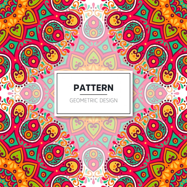 Etnisch bloemen naadloos patroon met mandala's