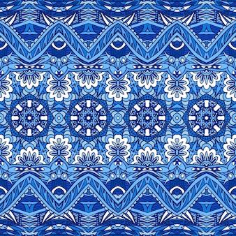 Etnisch boho-textiel decoratief stofkunstontwerp