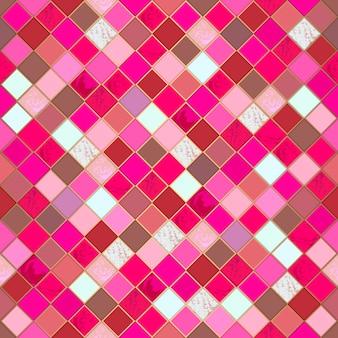 Etnisch mozaïek kleurrijk naadloos patroon.