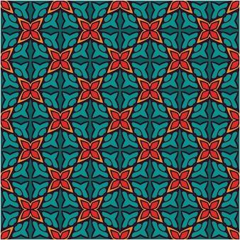 Etnisch naadloos patroonontwerp minimalistische stijl