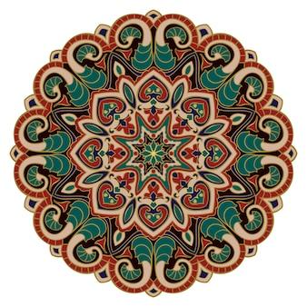 Etnisch patroon met mandala.
