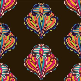 Etnisch patroon van abstracte kunst