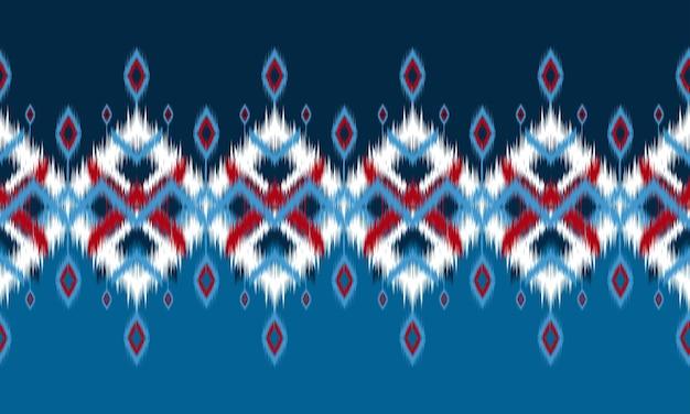 Etnische abstracte ikat kunst. naadloos patroon in stammen.