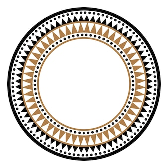 Etnische afrikaanse tribale ronde stijl vector frame of cirkel grens