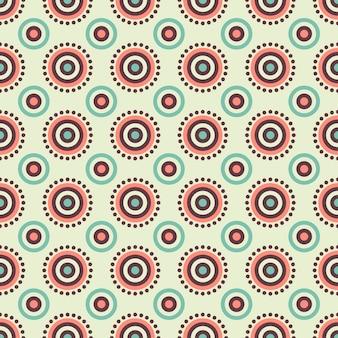 Etnische bloemen naadloze patroon abstract sierpatroon