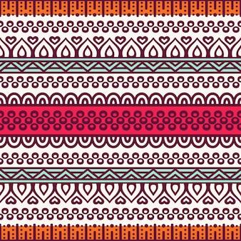 Etnische bloemen naadloze patroon