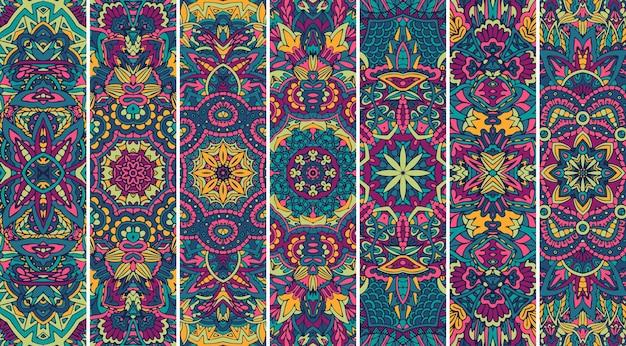 Etnische geometrische patroon bladwijzer boho print.