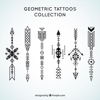 Etnische geometrische tattoo collectie
