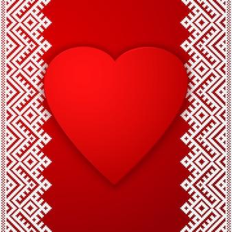 Etnische grens en groot rood hart
