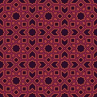 Etnische islamitische lijnpatroon