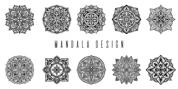 Etnische mandala set decoratie.
