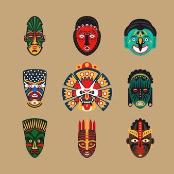 Etnische maskeerpictogrammen