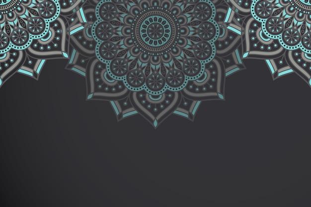 Etnische motief mandala achtergrond