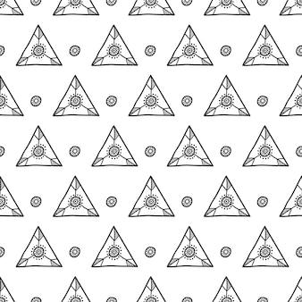 Etnische motief scandi stijl. vector naadloos patroon.