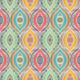 Etnische naadloze patroon met mandala