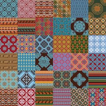 Etnische naadloze texturen