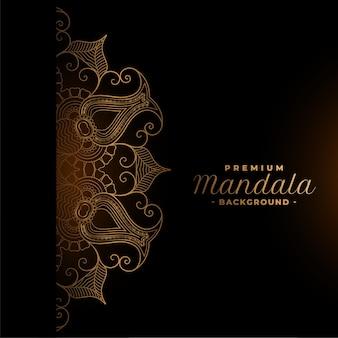 Etnische premium mandala-ontwerpachtergrond