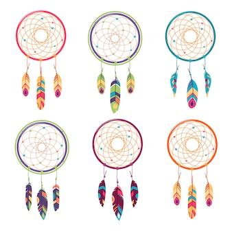 Etnische set, tribale amulet