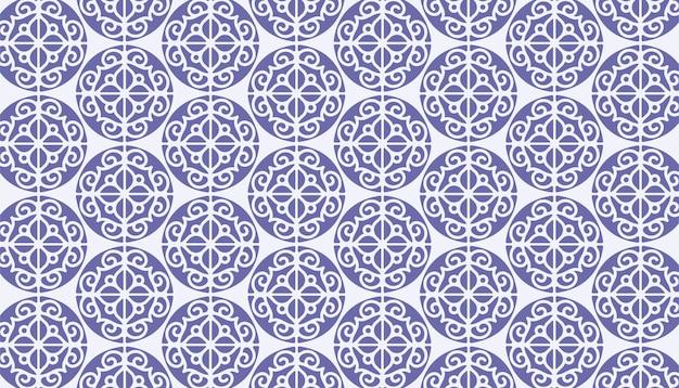 Etnische stijl mandala naadloos patroon