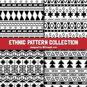 Etnische zwarte en witte patronen
