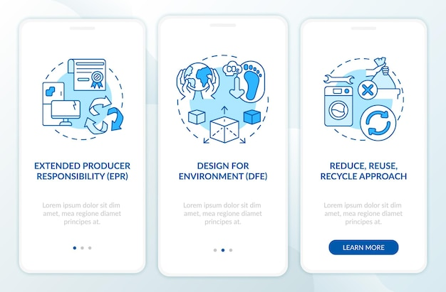 Etrash vermindert initiatieven op het scherm van de mobiele app-pagina