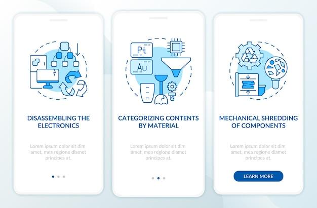 Etrash-verwijderingsstappen op het scherm van de mobiele app-pagina