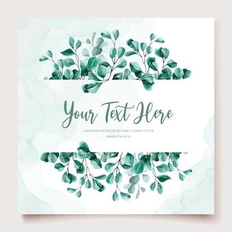 Eucalyptus aquarel bruiloft uitnodiging kaartsjabloon
