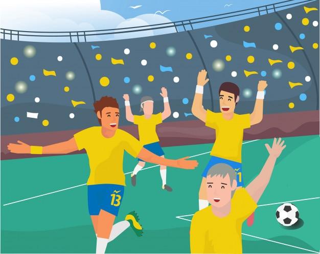 Euforia soccer kampioenschap illustratie