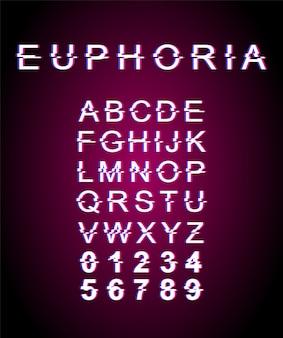Euphoria glitch lettertypesjabloon