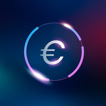 Euro teken vector geld valutasymbool