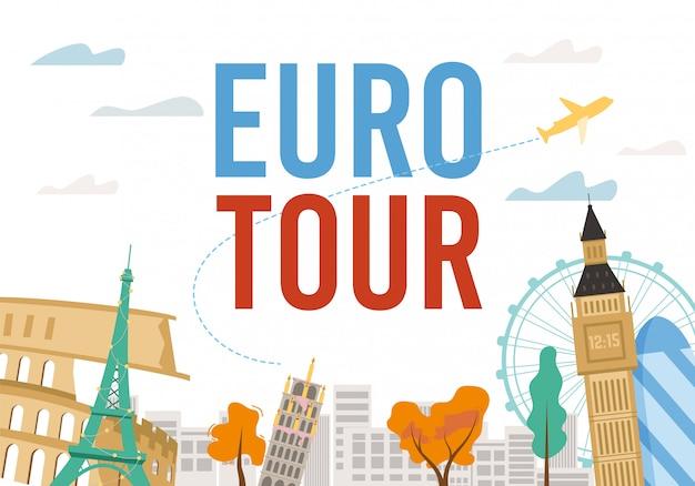 Euro tour-excursie met beroemd monumentontwerp