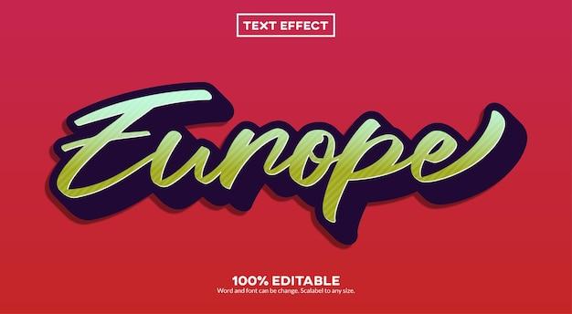 Europa eenvoudig teksteffect