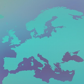 Europa kaart in punt.