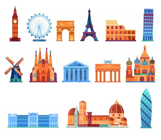 Europa landmark set