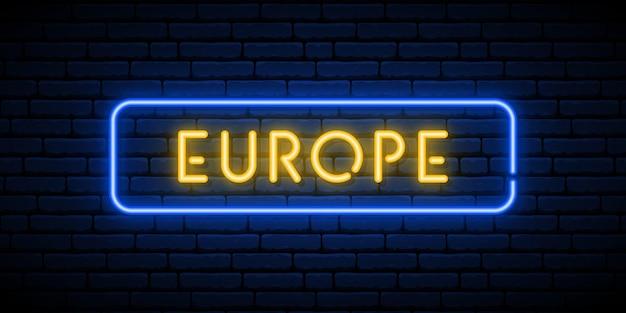 Europa neon teken