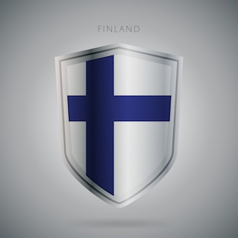 Europa vlaggen serie finland pictogram.