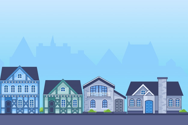 Europe house illustratie