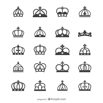 Europese kroon silhouet vector