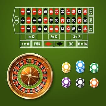 Europese roulette set