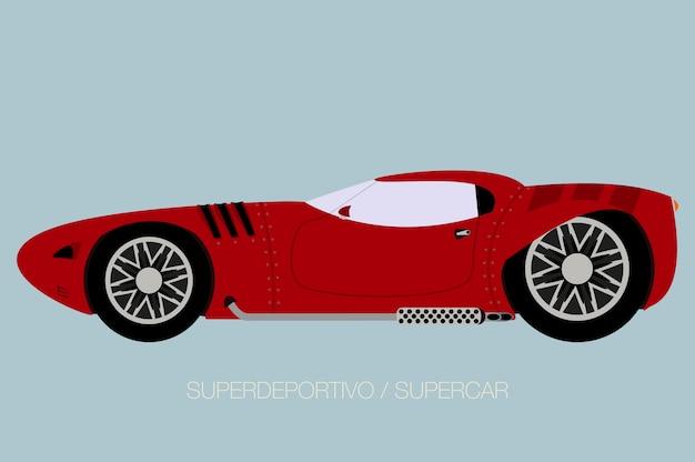 Europese super auto illustratie