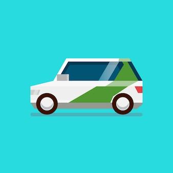Ev elektrische auto schone energie.