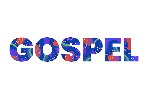 Evangelie woord concept