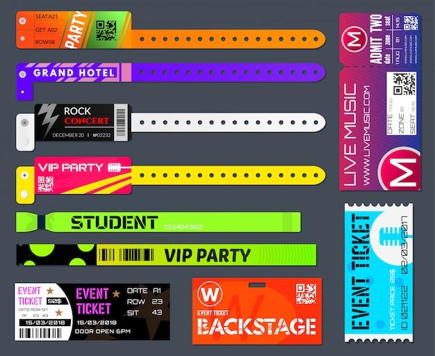 Evenement armbanden en tickets set