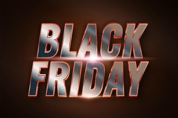 Evenement black friday-uitverkoop met 3d-zilvereffectconcept voor trendy flayer en banner sjabloonpromotiemarkt online